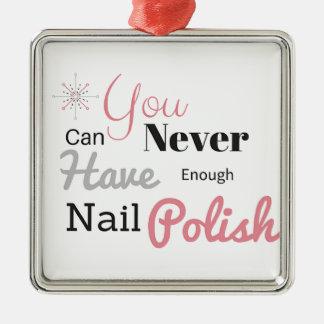 Nail polish lover- Click to purchase Silver-Colored Square Decoration