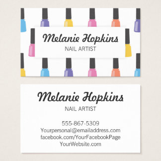 Nail Polish Salon Spa Beauty Business Card