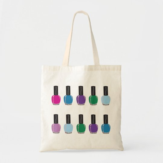 Nail Polish Shopper Tote Bag