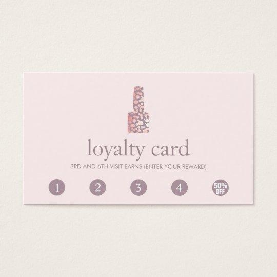 Nail Salon 5 Punch Customer Loyalty Card