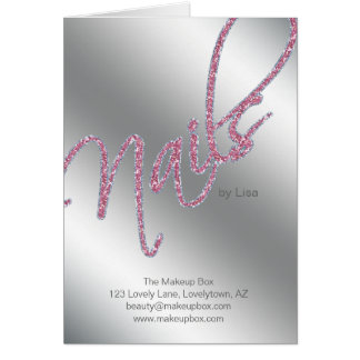 Nail Salon Brochure Beauty Card