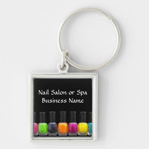 Nail Salon Business, Bright Polish Bottles Key Chains