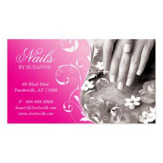 Nail Salon Business Card Pink