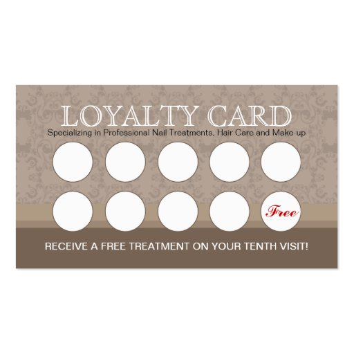 nail salon loyalty cards business card templates. Black Bedroom Furniture Sets. Home Design Ideas