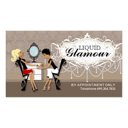 Create your own nail technician business cards nail salon loyalty cards business card templates reheart Gallery