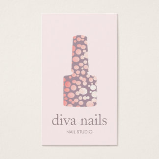 Nail Salon, Mauve Pink Manicurist Polish Bottle Business Card