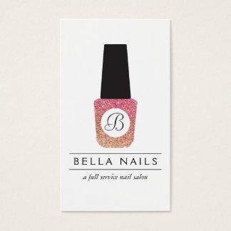 Nail Salon Monogram on Bronze Glitter Nail Polish