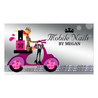 Nail Salon Scooter Girl Fashion Business Card Blon