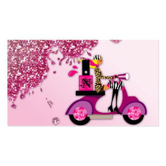 Nail Salon Scooter Girl Glitter Polish Pack Of Standard Business Cards