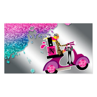 Nail Salon Scooter Girl Glitter Polish Swirls Pack Of Standard Business Cards