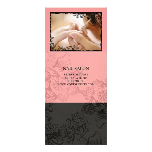 Nail Salon Services Price List Personalized Rack Card