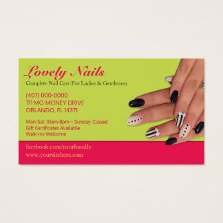 Nail Salon Technician Business Card