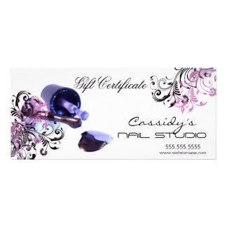 Nail Studio and Salon Gift Certificate Rack Card Design