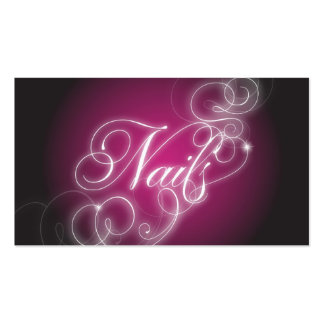 Nail Tech Business Card Elegant Flourish Glow
