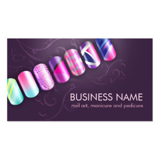 Nail Tech / Nail Art Business Card Template