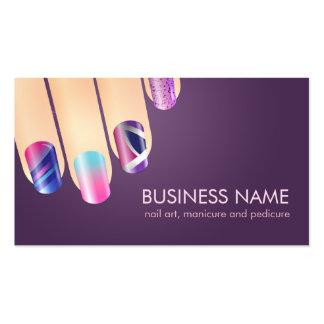 Nail Tech & Nail Art Business Card Template