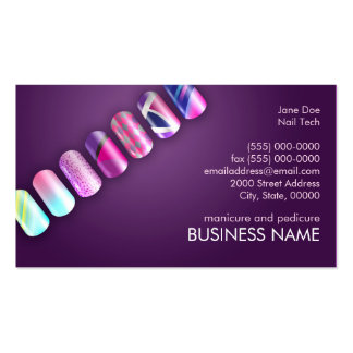 Nail Tech Professionals Business Card Template Standard Business Cards