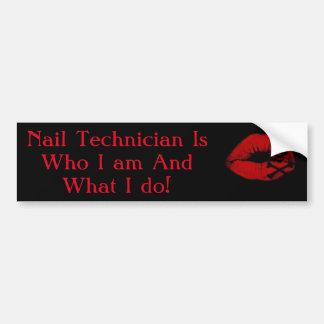 Nail tech sticker bumper sticker