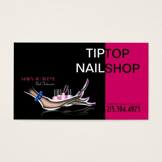 Nail Technician/Artist/Manicurist Business Card
