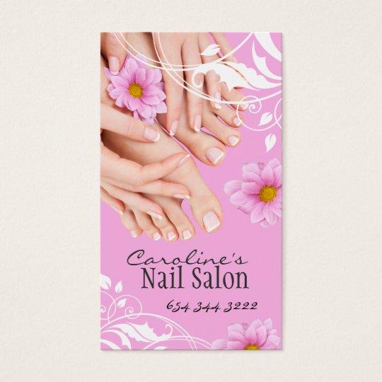 Nail technician business card zazzle nail technician business card reheart Gallery