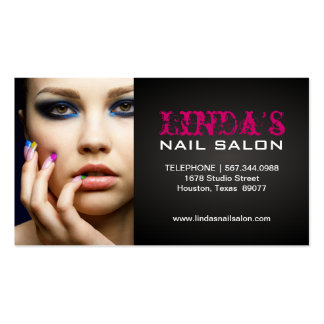 NAIL TECHNICIAN BUSINESS CARD PACK OF STANDARD BUSINESS CARDS