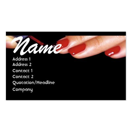 Create your own nail technician business cards page2 nail technician business card reheart Gallery