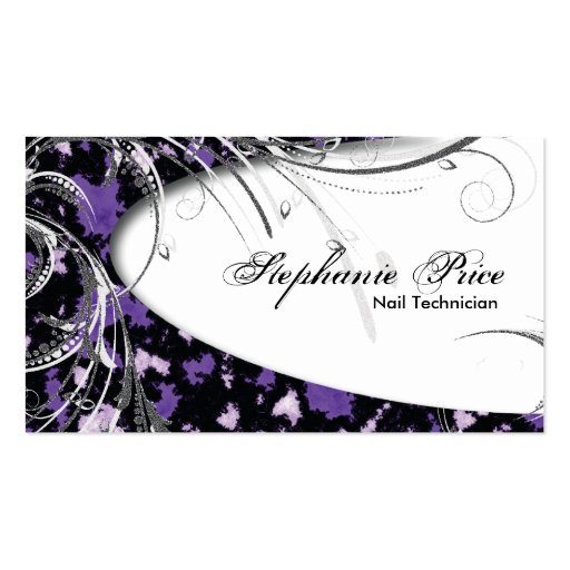 Create your own nail technician business cards page6 nail technician business card abstract glitter reheart Gallery