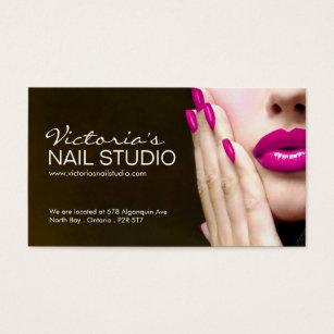 Nail technician business cards business card printing zazzle uk nail technician business card template colourmoves