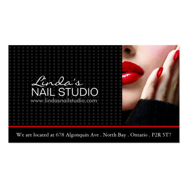 Nail technician business card template for Nail business cards templates