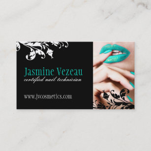 Nail tech business cards zazzle uk nail technician business cards reheart Images