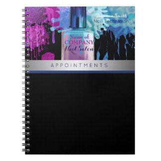 Nail Technician colourful splatter design Notebook