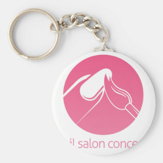 Nail Technician concept Basic Round Button Key Ring