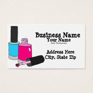 Nail Technician Manicurist Business Cards