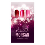 Nail Technician Manicurist - Pink Beauty Glitter Pack Of Standard Business Cards