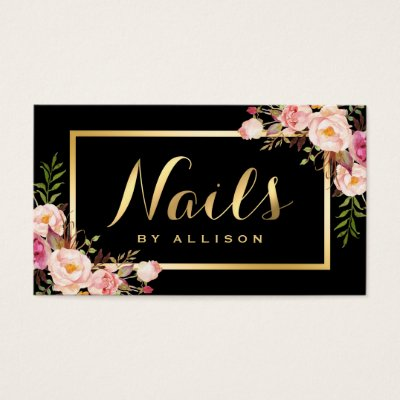 Modern nail technician business card zazzle reheart Gallery