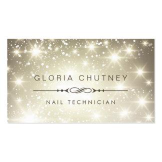 Nail Technician - Sparkling Bokeh Glitter Pack Of Standard Business Cards