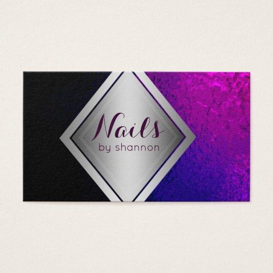 Nails salon nail technician romantic floral wrap business card nail technician trendy beauty salon business card reheart Gallery