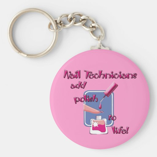 Nail Technicians Keychain
