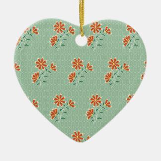 Naila Floral Batik Heart Ornament