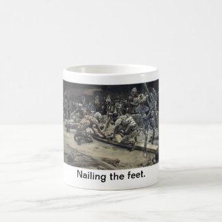 Nailing the feet. basic white mug