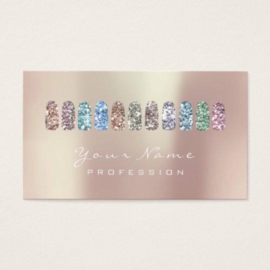 Nails Art Beauty Studio Glitter Rose Gold Pearly