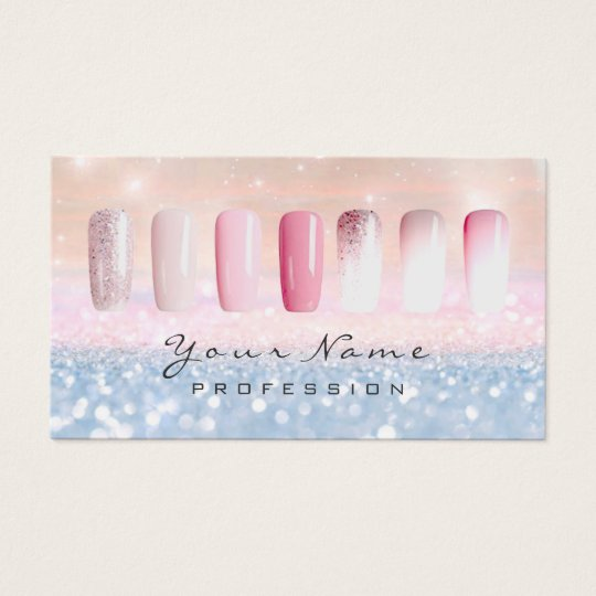 Nails Art Glitter Ombre Pastel Pink Rose Lux