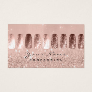 Nail business cards business card printing zazzle uk nails art glitter skinny pastel pink rose business card colourmoves