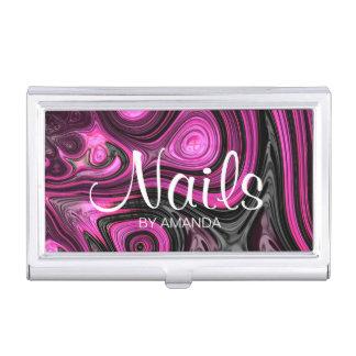 Nails Nail Artist Pedicure NailArt Purple Black Business Card Holder