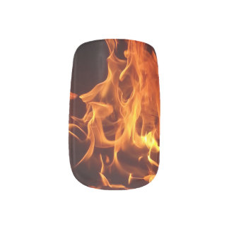 Nails on fire, nail art