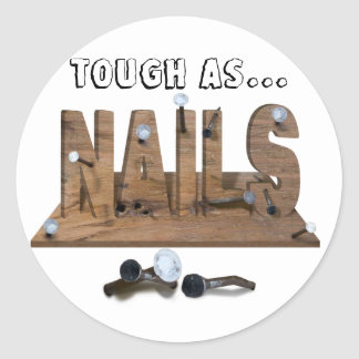 NAILS ROUND STICKER