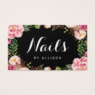 Nails Salon Nail Technician Romantic Floral Wrap