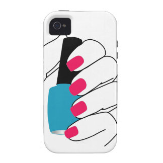 Nails with a nail polish in hand iPhone 4 cover