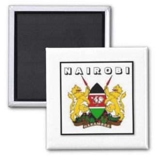 Nairobi, Kenya Products Square Magnet
