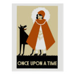 Naive Art Deco Little Red Riding Hood Postcards
